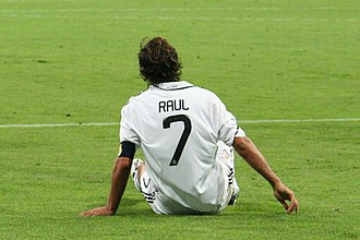 Raúl (footballer) - Raúl wore the #7 shirt for Real Madrid between 1996 and 2010.