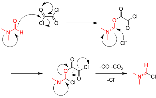 Reaction of oxalyl chloride with DMF.png