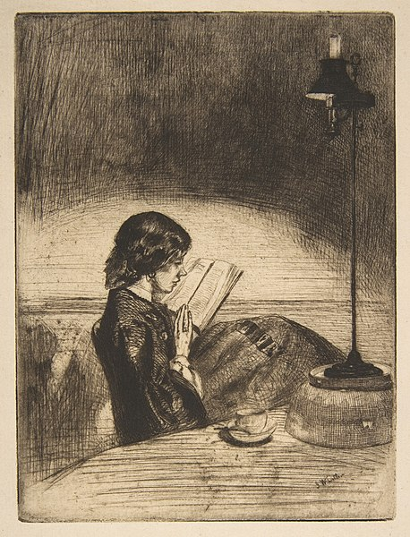 File:Reading by Lamplight MET DP813284.jpg