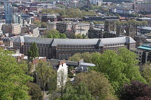 City Hall, Bristol - The rear of the Bristol City Hall from Cabot Tower