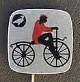 Reclamespeldje van een oud model fiets foto 5.JPG