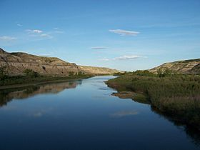 Red Deer River à Drumheller