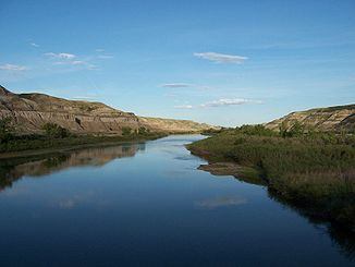 Red Deer River bei Drumheller, Alberta