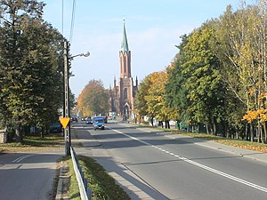 National road 91 (Poland) - National road 91 in Rędziny