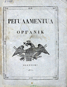<i>Regulamentul Organic</i> Quasi-constitutional organic law in Moldavia and Wallachia