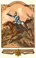 Reiter des Großherzoglich Oldenburgischen Reiter Regiments 1861 mit Helm und dem 1850 eingeführten hellblauen Waffenrock nach Muster der preußischen Dragoern..jpg