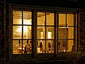 Restaurant window of Black Horse Inn, Nuthurst West Sussex.jpg