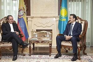 Karim Massimov - Massimov with Minister of Foreign Affairs of Ecuador Ricardo Patiño on 4 July 2014