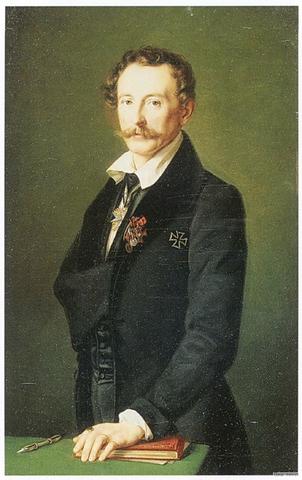 Т. Гильдебрандт. Портрет Герхарта Рейтерна, 1838