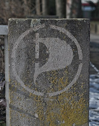 Reverse graffiti - Reverse graffiti for the Pirate Party in Bayreuth, Germany