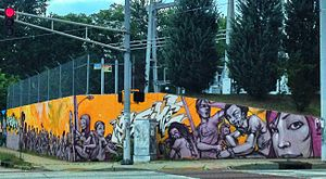 Reynoldstown, Atlanta - Street art on Moreland Ave. at Seaboard Ave. in Reynoldstown, June 2012
