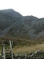 Rhinog Fawr from Bwlch Drws Ardudwy - geograph.org.uk - 534793.jpg