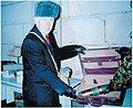 Richard Lugar during a visit to the chemical weapons depository at Shchuchye, Russia.jpg