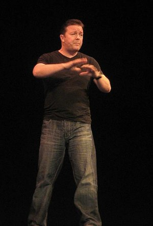 Ricky Gervais - Gervais performing in 2007