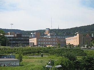 Gaustad - Rikshospitalet occupies a large area of Gaustad