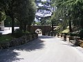 Road with a bridge in the Vatican Gardens near the train station (Giardini Vaticani).jpg