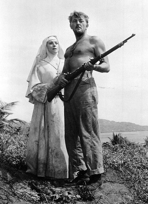 Robert Mitchum Deborah Kerr Heaven Knows Mr. Allison 1957 (cropped)