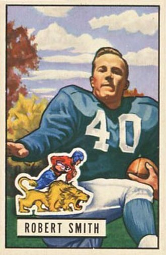 Bob Smith (defensive back, born 1925) - Smith on a 1951 Bowman football card