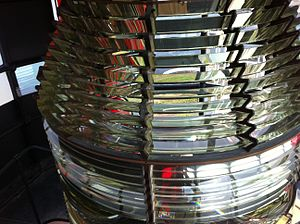Roche's Point Lighthouse - Second order Fresnel lens at Roche's Point lighthouse