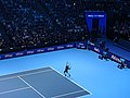 Roger Federer v Novak Djokovic at 2019 ATP Finals (49070127503).jpg