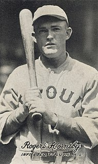 Rogers Hornsby American baseball player, coach, manager