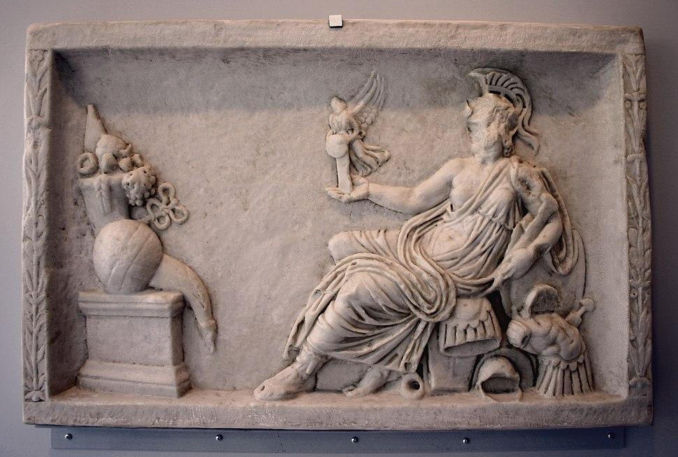 Roma, Museo Ara Pacis - Calco di Roma con Vittoria - Foto Giovanni Dall'Orto, 30-Mar-2008