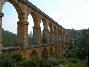 Photo of Tarragona aquaduct built by the Romans.
