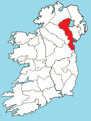 Roman Catholic Archdiocese of Armagh - Image: Roman Catholic Diocese of Armagh map