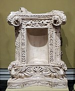 Roman tombstone as altar (1st c., Dresden) replica in Pushkin museum 01 by shakko.jpg