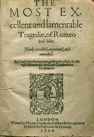 Title page of the second quarto edition (Q2) o...