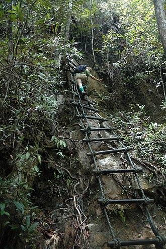 Mount Santubong - Part of the arduous ascent