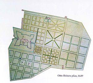 Rosenborg Castle Gardens - Otto Heider's plan from 1649
