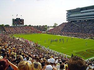 Purdue Boilermakers football - Ross–Ade Stadium during a game in 2006