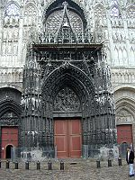 Entrance to Rouen Cathedral