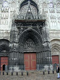 The entrance to Rouen Cathedral