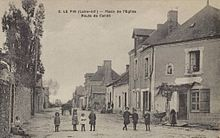 Carte postale ancienne illustrant la route de Candé.