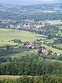Rovensko pod Troskami, z Trosek, v popředí Ktová-U Nádraží (01).jpg