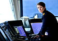 Royal Navy Officer on the Bridge of a Warship MOD 45155406.jpg