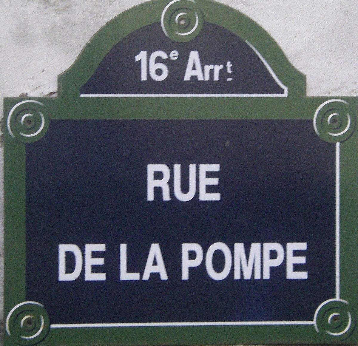 Rue De La Pompe  U2013 Wikipedia
