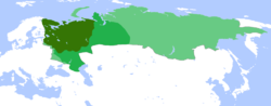 Territory of Russia in      1500,      1600 and      1700.