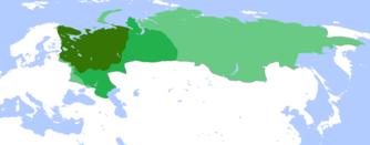 Russlands utvidelse rundt 1500, 1600 og 1700