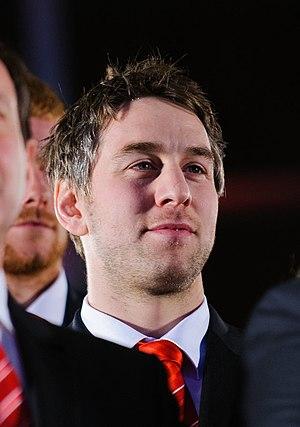 Ryan Jones - Image: Ryan Jones. Wales Grand Slam Celebration, Senedd 19 March 2012