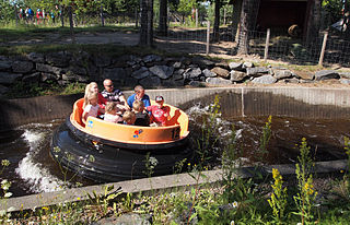 Water ride amusement rides that are set over water