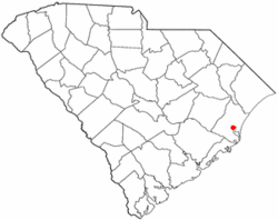 Location of Georgetown in South Carolina