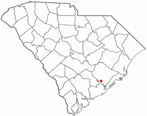 Goose Creek, South Carolina - Image: SC Map doton Goose Creek