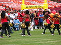 SF Gold Rush at 49ers Family Day 2009 1.JPG