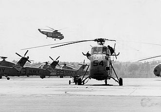 Naval Air Station Ellyson Field - Image: SH 3A Sea King of HS 11 and HT 8 UH 34 Seahorses at Ellyson Field in 1967