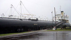 Whaleback - Closer view of SS Meteor.