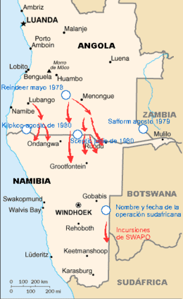 SWAPO and SA operations 1978-1980, Angola civil war es.png