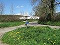 Sad Signpost at Sandhills - geograph.org.uk - 405762.jpg